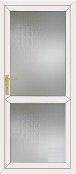 Glazed Back Door With Midrail Upvc Full Glass Door With