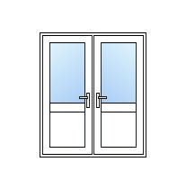 UPVC Half Glazed French Doors ...