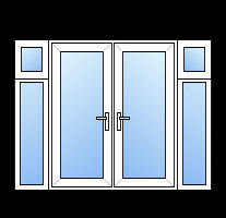 French Doors With Side Panels Cheap Diy Upvc French Doors