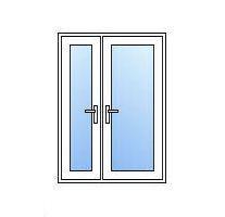 Upvc half glazed french doors cheap diy upvc french doors for Upvc offset french doors