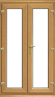 Irish Oak Upvc French Doors Cheap Irish Oak Upvc French