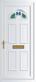 House numbers for upvc doors