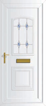 Victorian S1 Fused Grille Upvc Front Doors Cheap Upvc