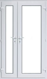 Offset upvc french doors cheap offset upvc french doors for Upvc french doors inward opening