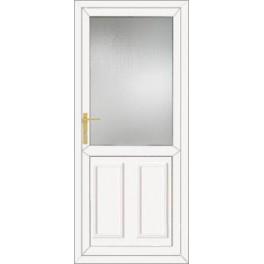 Upvc back door 890 x 2090mm diy upvc doors for Upvc french doors 1190 x 2090