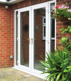 Upvc french doors and side lights for Patio doors with side panels