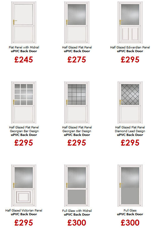 Cheap upvc back doors for Back door styles