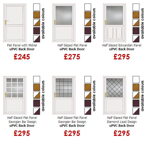 upvc back doors from only 245